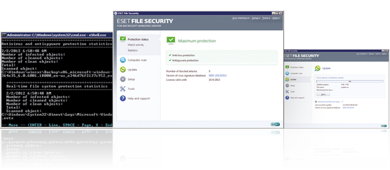 ESET File Security Windows Server Virusbeskyttelse Spywarebeskyttelse